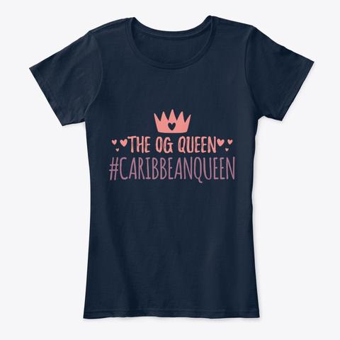 Shirt For The Caribbean Queen New Navy T-Shirt Front