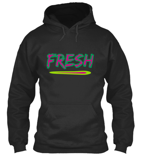 Fresh   Jet Black Sweatshirt Front