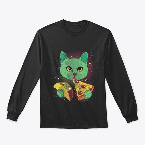Cosmic Cat Black T-Shirt Front