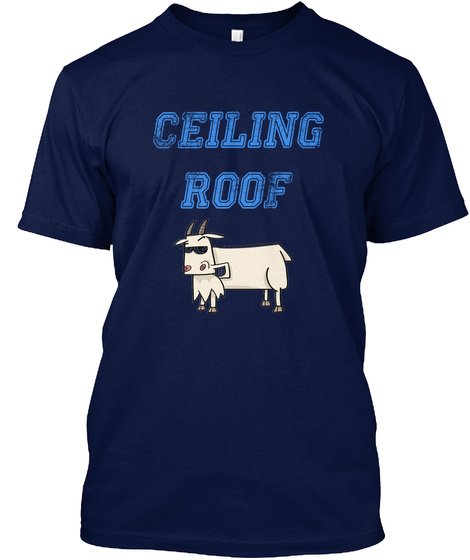 Ceiling Roof Navy T-Shirt Front