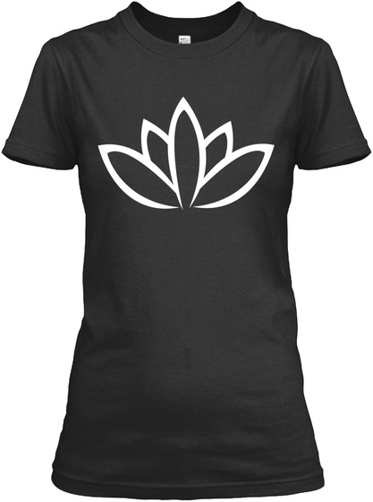 Lotos Yoga Meditation Black T-Shirt Front