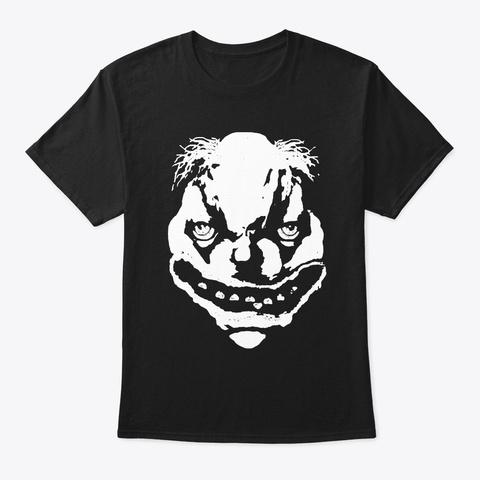 Bo Bo The Clown Bw Black T-Shirt Front