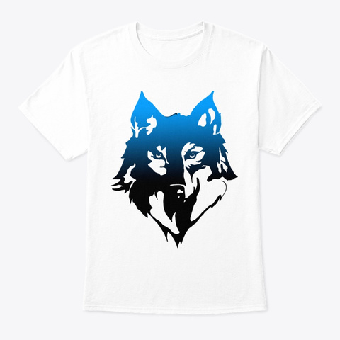 Wolf Drawing T Shirt,Hoodie,Sweat,Tee White T-Shirt Front