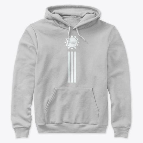 Summer Pop Hoodie   Premium Grey/White Athletic Heather T-Shirt Front