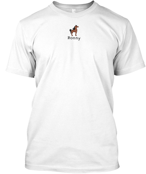 Ronny White T-Shirt Front
