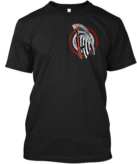 Thin Red Line: Protect This Line Black T-Shirt Front