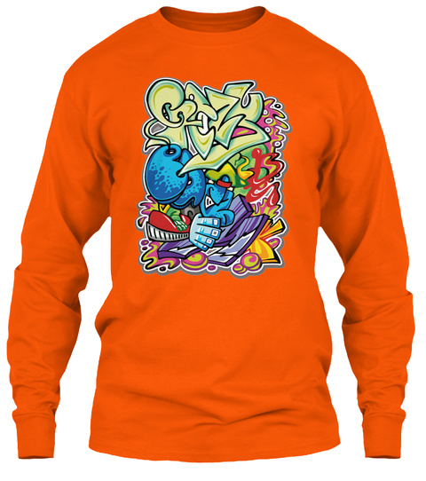 Get Your Crazy On   Tees For Men's  Safety Orange T-Shirt Front