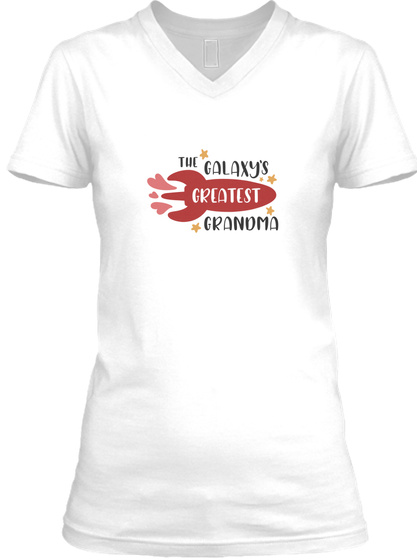 Galaxy's Greatest Grandma White T-Shirt Front
