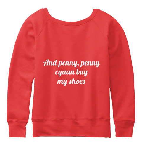 And Penny, Penny Cyaan Buy My Shoes Red T-Shirt Back