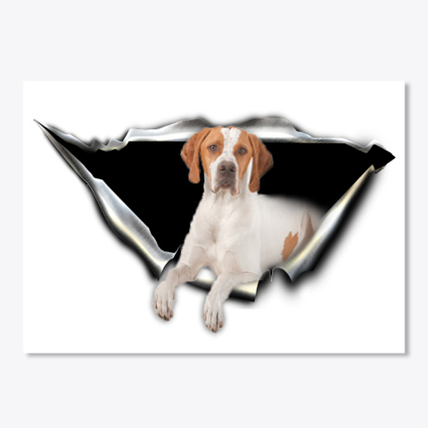English Pointer Lovers White T-Shirt Front