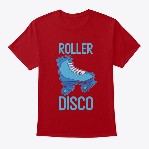 Roller Disco   Retro Party Deep Red T-Shirt Front
