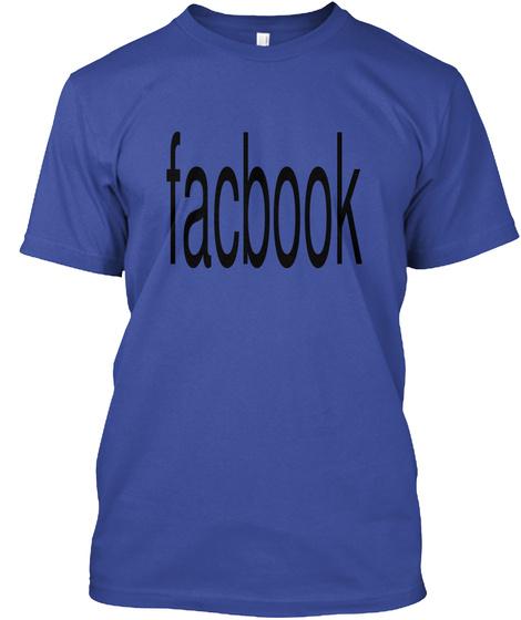 Facbook Deep Royal T-Shirt Front