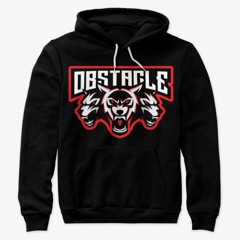 Obstacle Gaming Clan Merch Black T-Shirt Front