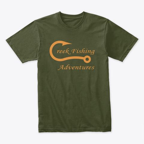 Cfa T Shirt With Orange Logo Military Green T-Shirt Front