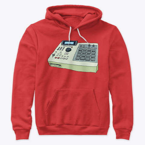 Akai Mpc 2000 Red T-Shirt Front