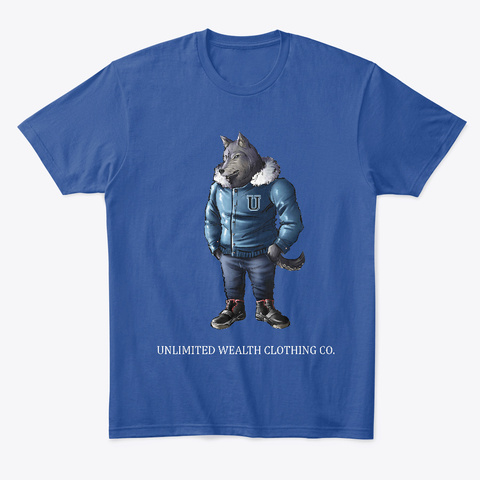 The Wall Street Wolf Deep Royal T-Shirt Front