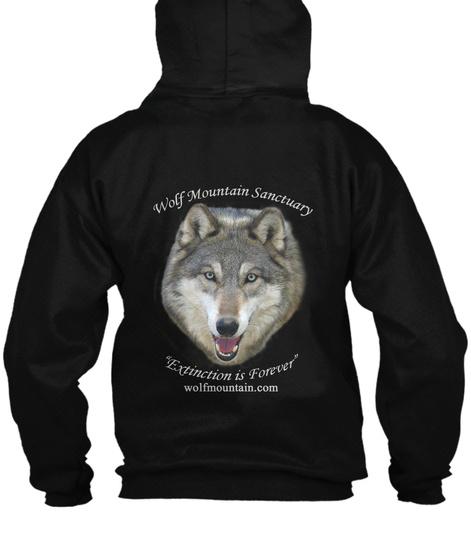 Wolf Mountain Sanctuary Extinction Is Forever Wolfmountain.Com Black Kaos Back
