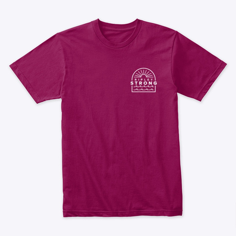 Ripley Sunset Cardinal T-Shirt Front