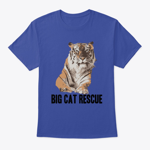 Amanda Tiger Art Deep Royal T-Shirt Front