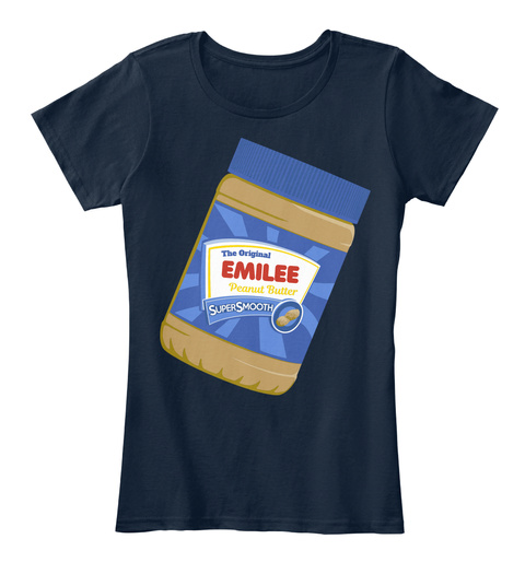 The Original Emilee Peanut Butter New Navy T-Shirt Front