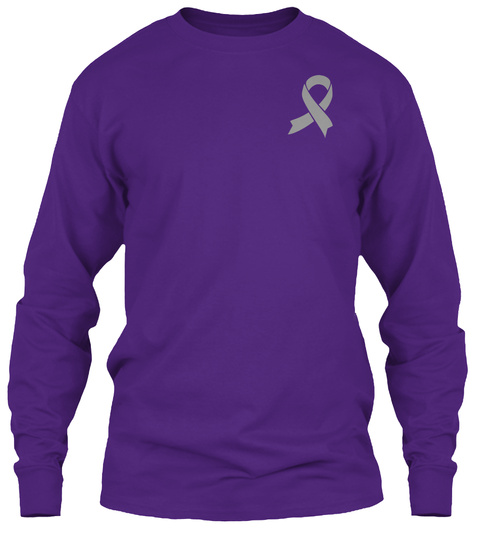 Choose Life &Amp; Fight!Brain Cancer Purple T-Shirt Front