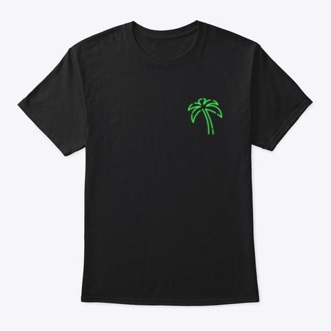 Neo N Palm Black T-Shirt Front