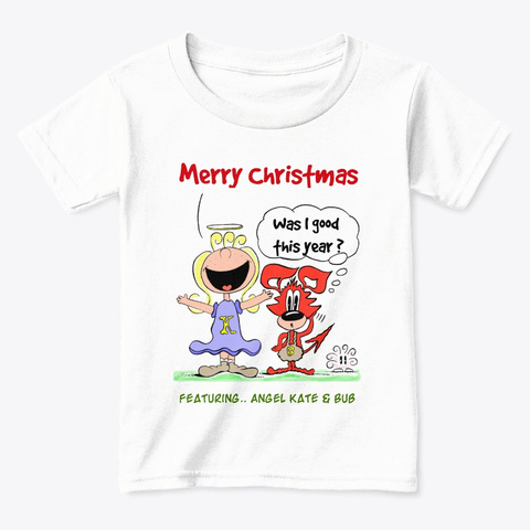 Merry Christmas From Angel Kate White  T-Shirt Front