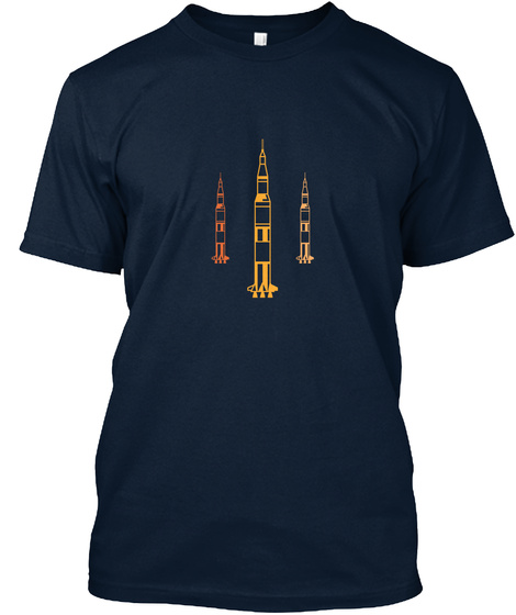 Three Color Rockets New Navy T-Shirt Front