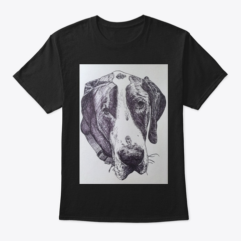 Great Dane Black T-Shirt Front