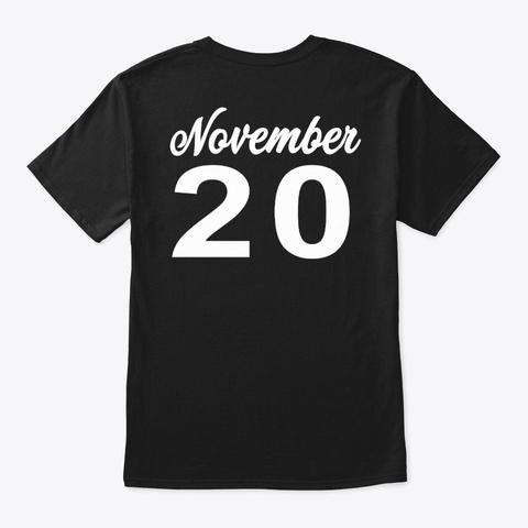 November  20   Scorpio Black T-Shirt Back