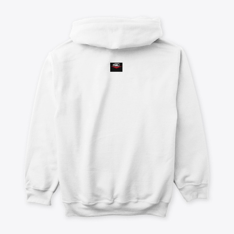 Diffusion Of Knowledge (Official Hoodie) White T-Shirt Back