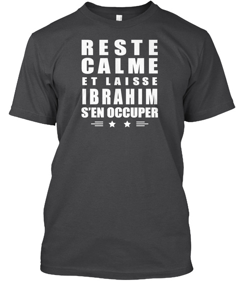 Reste Calme Et Laisse Ibrahim Dark Grey Heather T-Shirt Front
