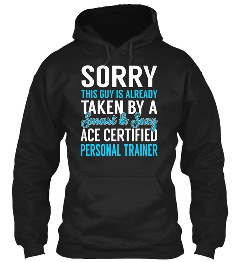 Ace Certified Personal Trainer Black T-Shirt Front