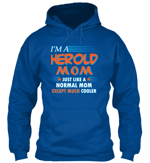 Name Herold Mom Cooler Royal T-Shirt Front