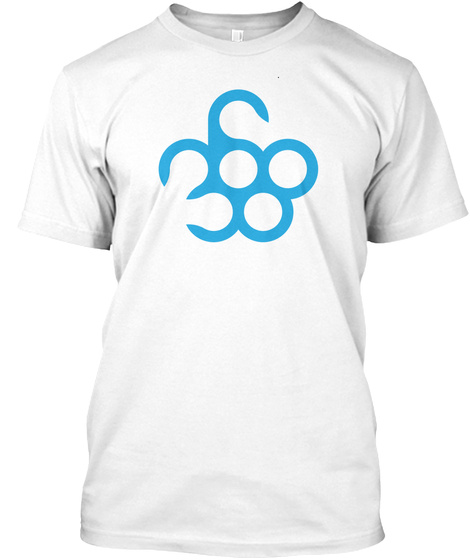 Three Six Eight White T-Shirt Front