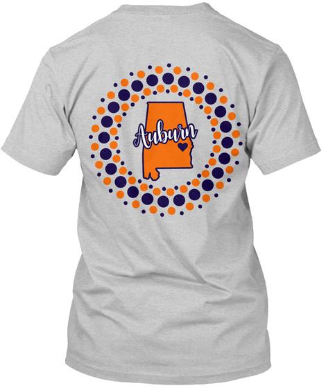 Auburn Dots Circle  Light Steel T-Shirt Back
