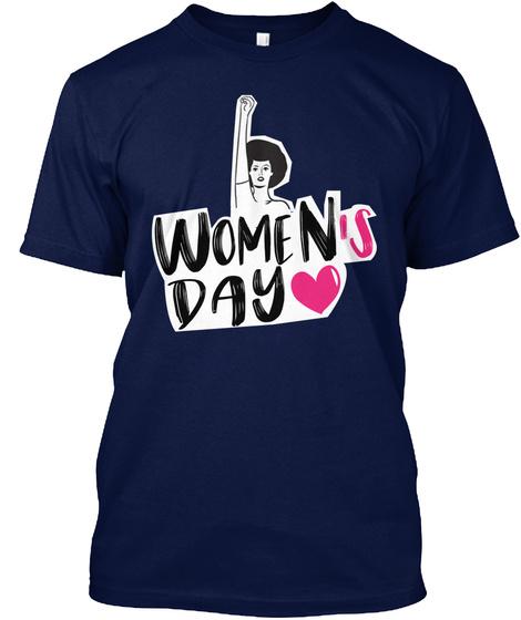 International Women's Day 2018 T Shirt Navy T-Shirt Front