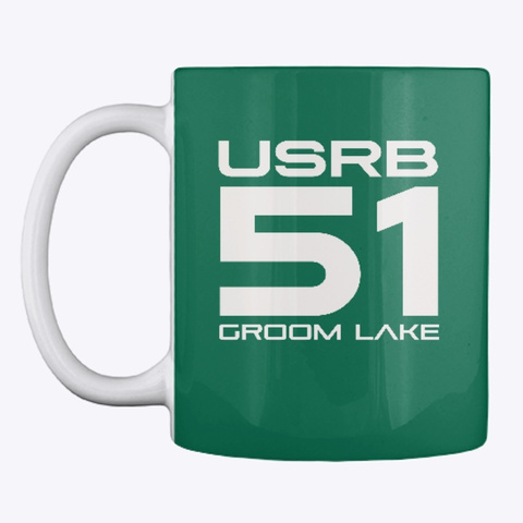 The Official Usrb Gl51 Mug! Forest Green T-Shirt Front