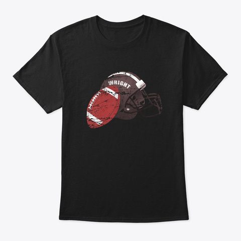 American Football Wright Black T-Shirt Front