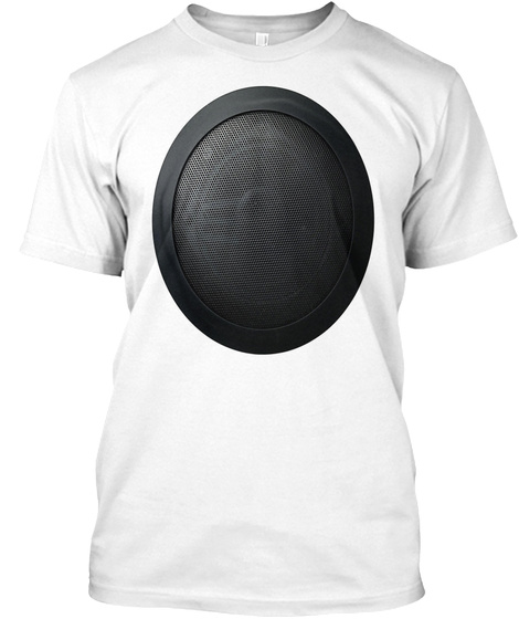 Radio Speaker Music Fashion Mens Or Wome White T-Shirt Front