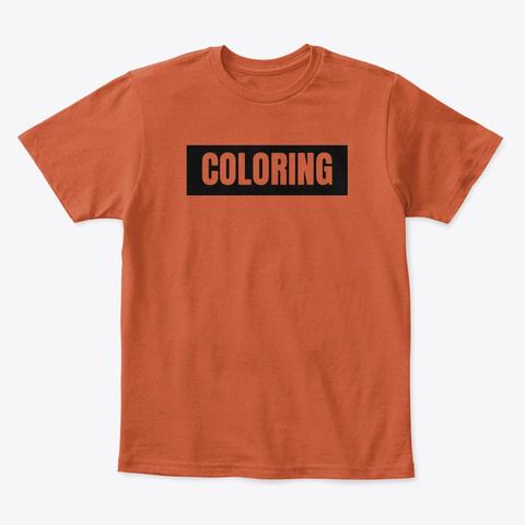 Mister 'coloring' Box Logo | Black Deep Orange  T-Shirt Front