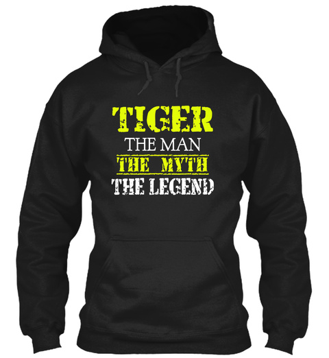 Tig Er The Man The Myth The Legend Black T-Shirt Front