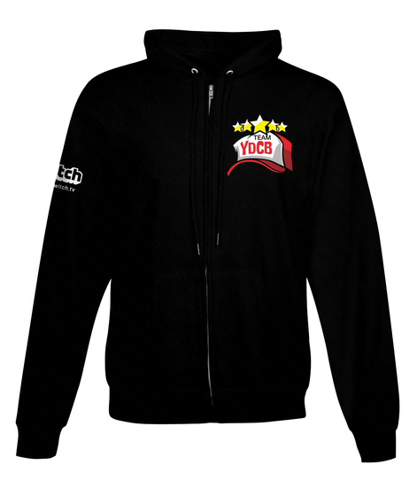 Team Ydcb Hoodies!  Black Sweatshirt Front