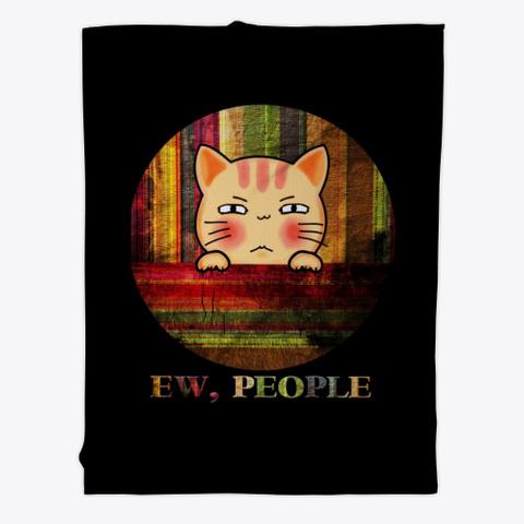 Ew, People Black T-Shirt Front