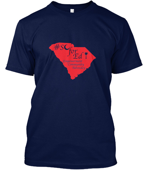 #S For Ed Empowerment Community Advocacy Navy T-Shirt Front