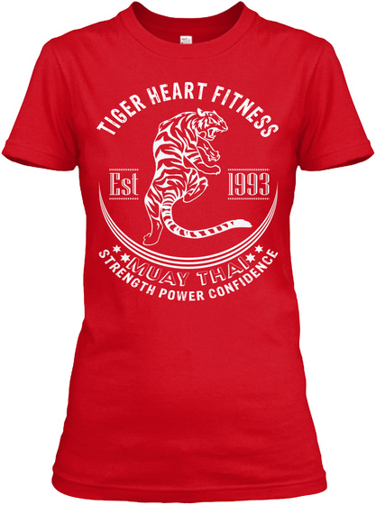 Tiger Heart Fitness Womans' Tee Red Women's T-Shirt Front