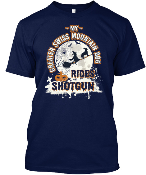 Greater Swiss Mountain Dog Navy T-Shirt Front
