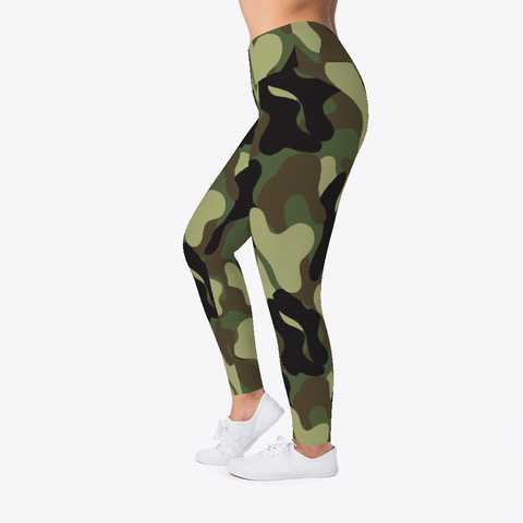 Camouflage Pattern Leggings Black T-Shirt Left