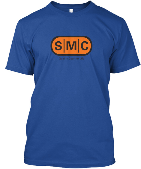 Smc Quality Gear For Life Deep Royal T-Shirt Front