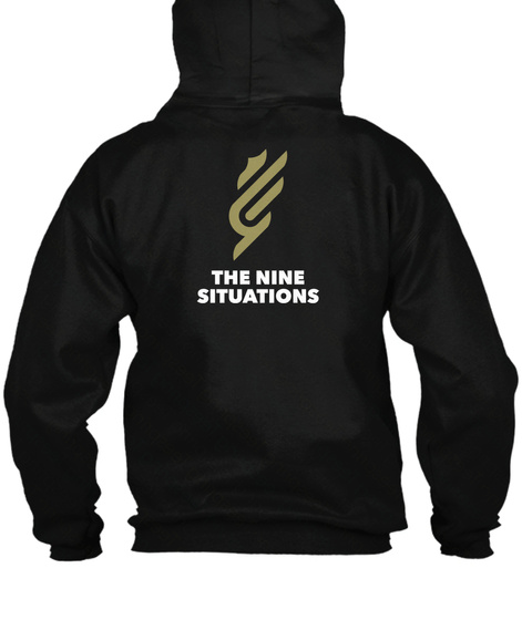 The Nine Situations Black T-Shirt Back